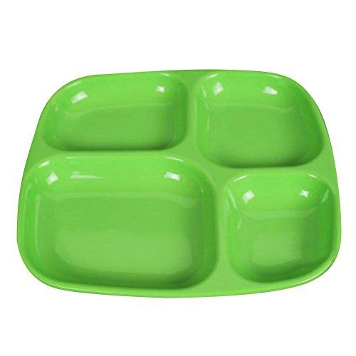 Highdas Kinder 4 Geteilte Platten Dish Utensils Farbe zufällig (Kinder-geteilte Platte)
