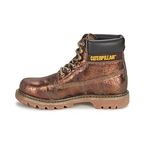 Cat FootwearCOLORADO - Stivali Chukka, gamba corta, imbottitura leggera Donna - braun/metallic