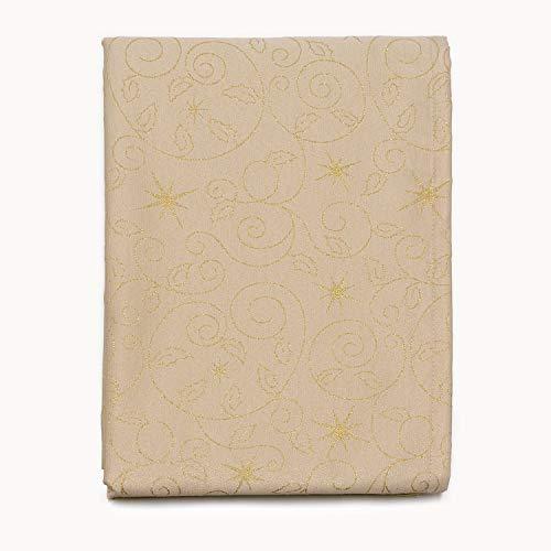 Top Qualität Weihnachten Sterne Tischdecke und Servietten-Anti Fleck Behandlung-Beige, beige, (59 x 157