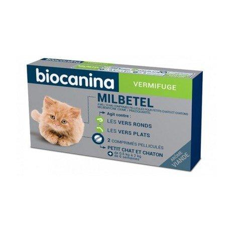 Biocanina milbetel vermifuge chatons petits chats 2 comprimés