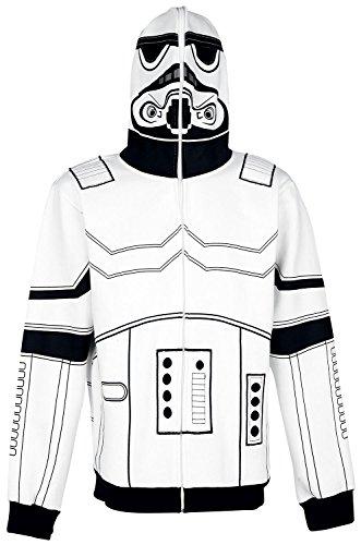 Star Wars Stormtrooper Sweat à capuche zippé blanc/noir blanc/noir