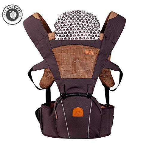 TRI Limited 6in1 Babytrage aus Baumwolle für Baby ab 4 Monate, die perfekte Babytragetasche, Kindertrage, Baby Trage, Tragetasche, Tragegurt Baby, und Tragesystem für Eltern und ihr Neugeborene