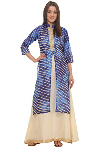 Traditional Dress for Women, Rosaniya Fully Stitched Party Wear Occassional Cotton Jute...