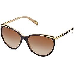 Ralph Ra 5150 Gafas de sol, Ojos de gato, 59, Black/Nude