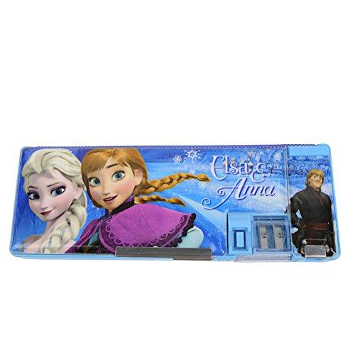 Disney Principessa Aisha Doppia Temperamatite in plastica cassa di matita 83001B (Blu)