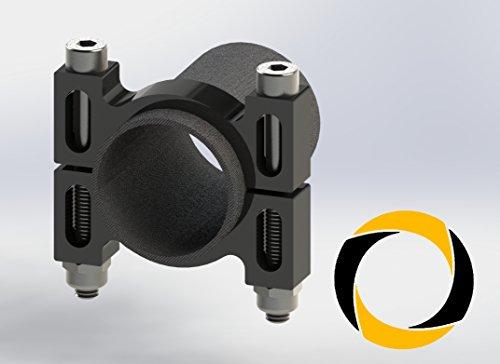 Preisvergleich Produktbild Ascending Composites Rohrschelle CNC 30 mm schw.-elox. 1 Stk.