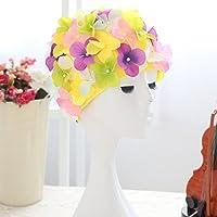 WINOMO Casquillo nadada flor pétalo natación con estilo sombrero de baño para mujeres (coloridas)