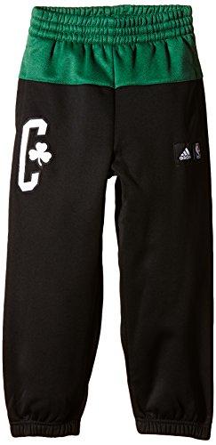 Adidas, Pantaloni sportivi Bambino Boston Celtics Nero (Schwarz/Grün)