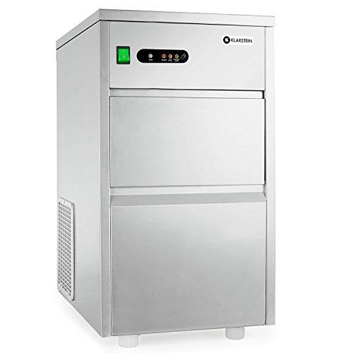 Klarstein Powericer XL • Profi Eiswürfelmaschine • Eiswürfelbereiter • Ice Maker • 20 kg / 24 h • 145 W • 3,5 kg Lagerfach • LED • geschmacksneutrale Auskleidung • sehr leise • Edelstahl • silber