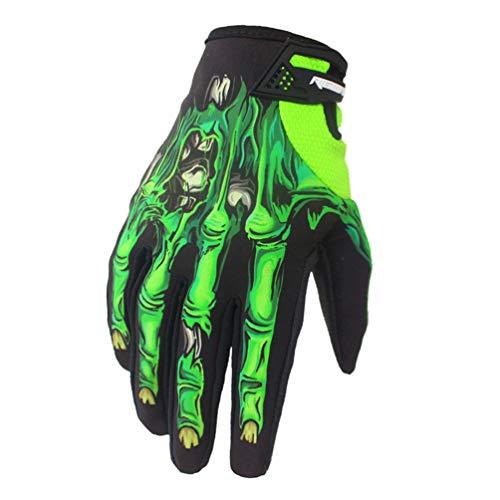 Guanti da motociclista da uomo completamente personalizzati, modello da cranio, guanti da motociclista, guanti da motocross, guanti da cross
