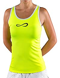 Endless Speed Pocket Top de Tenis, Mujer, Amarillo, S