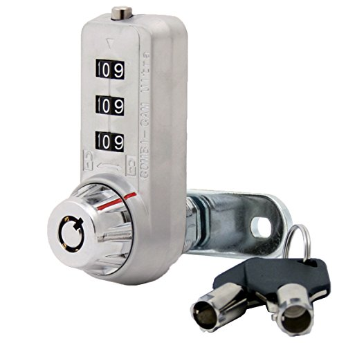 Combi-Cam Ultra, 7440S & Keys, Combination Cam Lock with Master Key Override, 5/8 Cylinder, Chrome Finish by Combicam