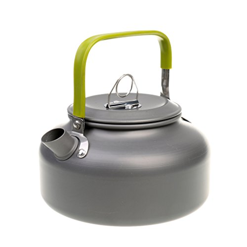 Segolike Outdoor Sports Aluminum Water Pot Coffee Teapot Camping Kettle with Carry...
