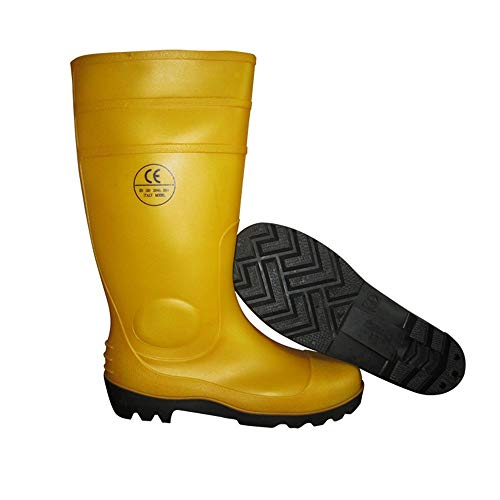 Mens Wellington Boots,Rubber Shoes,Oil Resistant,Acid Resistant,Anti Rain Shoes,Anti Stab Water Shoes,Safety Garden Work Rain Boots,Easy to Clean,Best for Wet Weather