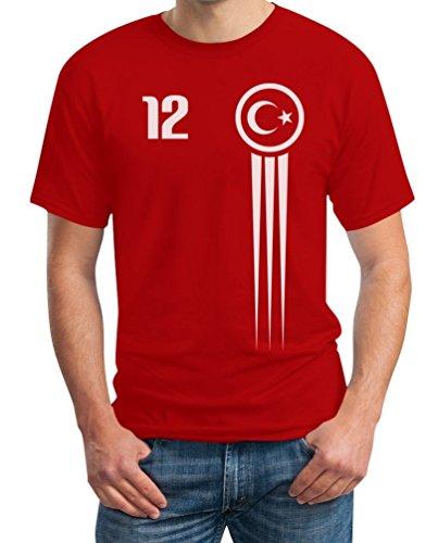 Türkei Türkiye Trikot Fanshirt Euro 2016 Fanartikel EM T-Shirt XXX-Large Rot