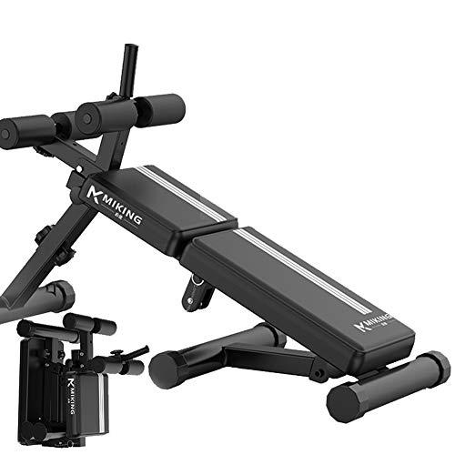 Sport Regolabile Sedia Romana - Multifunzionale Sit-Up Board Pieghevole Addominale Full Body Exercise Dumbbell Bench Attrezzature per Il Fitness (Nero)