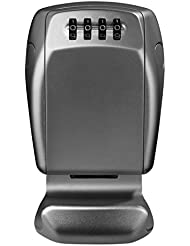 Boîte à clés murale / mini coffre-fort à code pour sécuriser vos clés et partager les accès - Gris; 20 cm