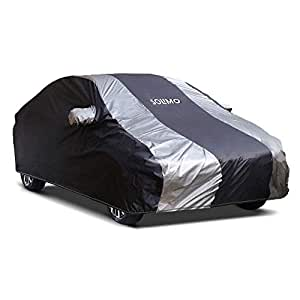 Amazon Brand - Solimo Maruti Ciaz Water Resistant Car Cover (Dark Blue & Silver)