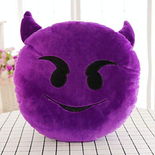 TAOtTAO Expression Pillowcase 32cm Weiche Emoji Smiley Emoticon gefüllt Plüschtier Puppe Kissenbezug (M)