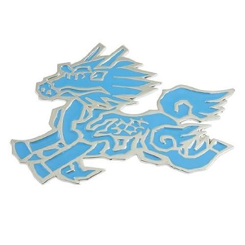 DealMux Van Truck Car Front Hood 3D Blue Chinese Dragon Sticker Emblem