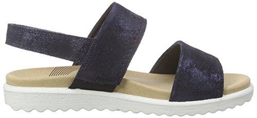 Legero SAVONA Damen Slingback Sandalen Blau (DENIM 83)