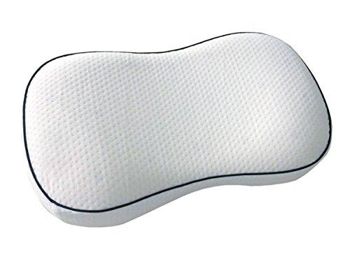 Dormiluna Ideal Nackenstützkissen | Nackenkissen aus viscoelastischem Memory-Schaum | Geeignet als Rückenschläfer-Kissen und Seitenschläfer-Kissen | Entlastet Nacken- und Schultermuskulatur | 32 x 53 x 10 cm (Synthetische Kissen Bett)