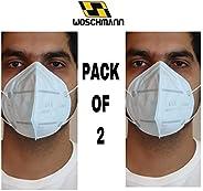 Woschmann-T-07 Pollution Mask Fighting Virus Elastic Mask Fighting Virus Face Mask Good for Air Pollution Viru