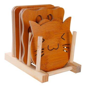 takagawa Wärmedämmung Kissen Set Holz Mahlzeit Kissen Schminkpinsel-Set Tasse Küche...
