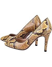 Desde Español para la venta ENVAL suave del gris de las sandalias de cuña de las mujeres correa de piel de pitón hebillas 59831 39 Barato de moda Búsqueda barata doR87