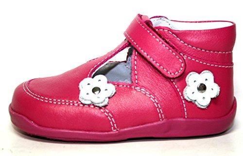 Juge 0910 351 3501 été chaussures enfant fille rose/fuchsia/blanc/argent) Rose - Pink (fuchsia/white/silver)