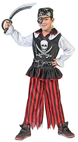 ür Kinder Gr. 140 - Tolles Piraten Seeräuber Kostüm für Jungen zu Karneval und Mottoparty (Tolle Kostüme Für Kinder)