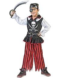 Pirat Bill Kostüm für Kinder - Tolles Piraten Seeräuber Kostüm für Jungen zu Karneval und Mottoparty