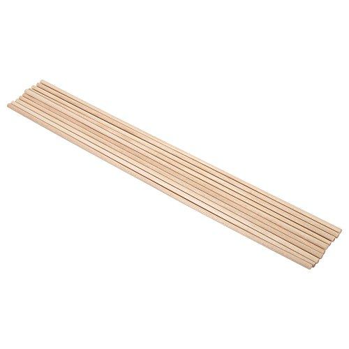 Zerodis Stiele aus Holz 10pcs 30cm Long DIY Craft Sticks-Holz kleine Bau-Holz-Handstäbe 4MM*30CM (Mm Stick 4)