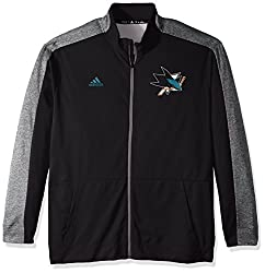 NHL San Jose Sharks Mens Authentic Full Zip Track Jacketauthentic Full Zip Track Jacket, Black, 4X-Large