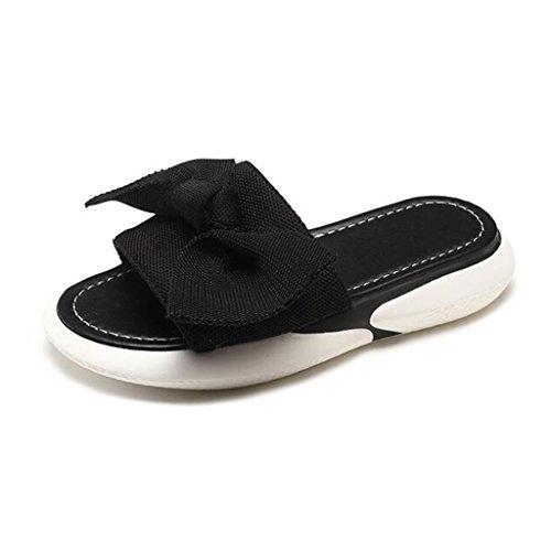 xy Infradito e Ciabatte da Spiaggia Flip Flop Donna Summer Fashion Outdoor Teenage Girl Lovely Butterfly Knot Fondo Piatto Antiscivolo Scarpe da Spiaggia Chic