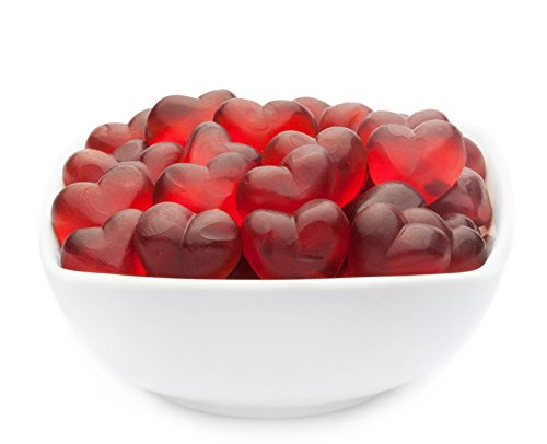 CrackersCompany 'Red Fruity Hearts' (2 x 3kg in Vorratspackung) Rote Himbeerfruchtsaft Herzen -...