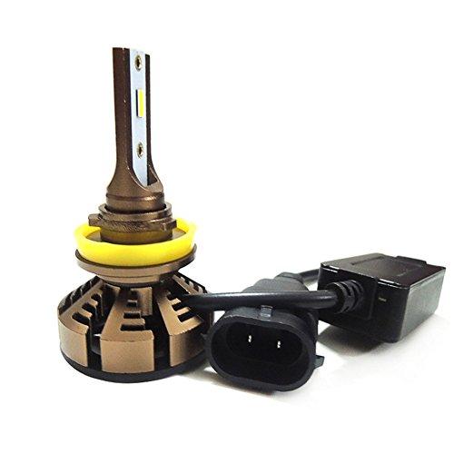 JAYLONG H7 LED Scheinwerferlampen 1 Paar, 5500K Hallo-Lo Dual Beam H7/H11/9005/9006 Autoscheinwerfer, 4200LM Helle CSP Chips Umbausatz Fit Für Alle Auto/Motorrad-Modelle - 1 Jahr - Toyota Camry 2003 Scheinwerfer