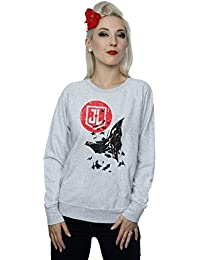 DC Comics Women's Justice League Movie Batman Moon Leap Sweatshirt