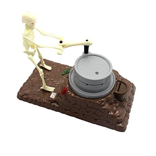 ende Skelett Spardose Elektrische Licht Spielzeug Halloween Dekoration ()