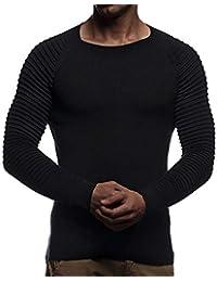 Blusa Hombre,BBestseller Camisa Bambú Fibra Hombre, Manga Larga, Slim Fit, Camisa