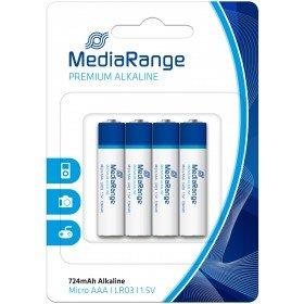 MediaRange Batterien Premium Alkaline Micro AAA 4er Zylinder LR0