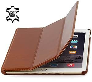 StilGut Couverture Case, Hülle aus feinstem Leder für das Apple iPad Air 2, cognac