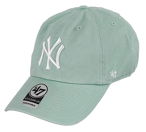 9c3f63701f143 Gorra 47 Brand – Mlb New York Yankees Clean Up Curved V Relax Fit azul talla