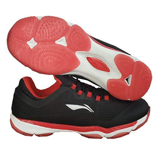Li-Ning Ranger Pro Advanced Badminton Shoes, Black/Red- 9 UK