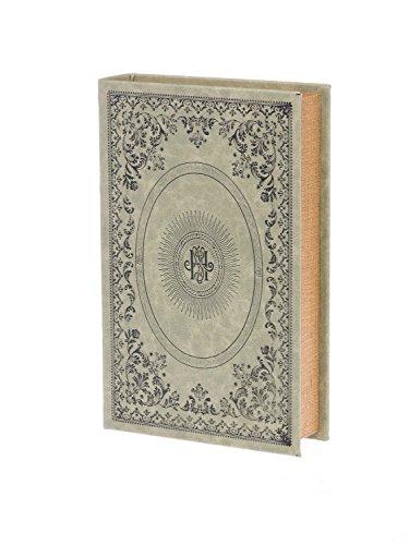 Buchattrappe Holz Box Schmucketui Etui Buchatrappe Buch grün antik Stil book box -