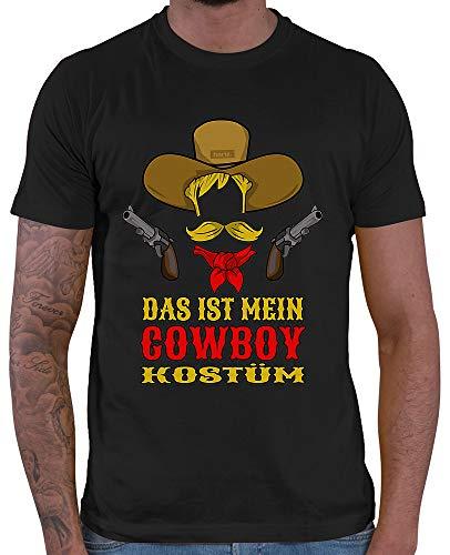 HARIZ  Herren T-Shirt Das Ist Mein Cowboy Kostüm Karneval Verkleidung Plus Geschenkkarte Schwarz 5XL