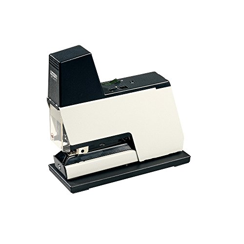 Rapid 10870402 Elektrisches Heftgerät 105E, 50 Blatt, Heftklammertyp 66, weiß/schwarz