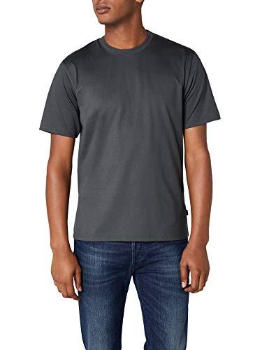 Trigema Herren T-Shirt aus Baumwolle 637202, Anthrazit, S -