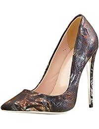 DIMAOL Zapatos de Mujer Invierno polipiel Bomba Básica Tacones Stiletto Talón Señalado Por el Partido Convergencia...
