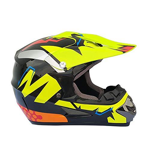 HXZM D.O.T zertifizierter Motorradhelm/Erwachsener Langlauf-Motorrad-Helm Avats-Helm mit Brille...